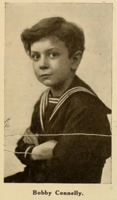 "Bobby Connelly was a child actor of silent films. He is one of the first male child stars of American motion pictures, beginning his career in 1913 at the age of four. He appeared in films with major players of the day and in 1914-15 portrayed ""Sonny Jim"" in a series of shorts about the adventures of a young boy. His career pertains primarily with the Vitagraph studios but occasionally he would appear in other studios' productions such as Humoresque produced by Paramount Pictures in 1920"