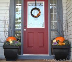 Fall porch decor! Can't wait til Fall!