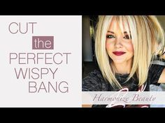 How to get the perfect wispy bangs - Harmonize_Beauty How To Cut Fringe, How To Cut Bangs, How To Style Bangs, Textured Bangs, Wispy Bangs Round Face, Side Fringe Bangs, Cut Side Bangs, Medium Hair Styles, Curly Hair Styles
