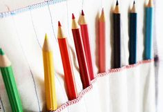 Fun DIY Projects for Kids - Easy DIY Sewing Tutorial for Art Supplies Organization - DIY Projects & Crafts by DIY JOY at http://diyjoy.com/quick-diy-projects-fast-crafts-ideas
