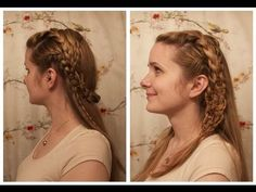 Vikings: Lagertha Inspired Braids. with caterpillar braid explanation