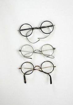 Old-fashioned glasses - dap·per/ dean