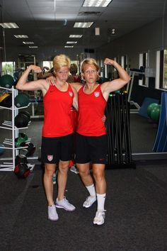 'We want to pump you up.' Megan Rapinoe and Lori Lindsey. (Autostraddle)