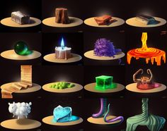 CgArt - Material studies x16 by SerValt on DeviantArt