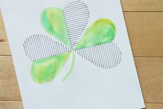 Salty Pineapple: WATERCOLOR SHAMROCK