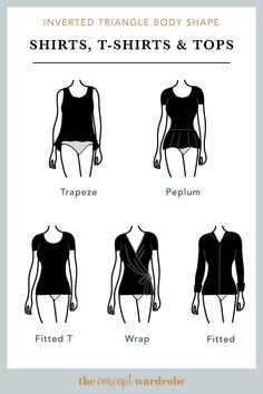 In this section, we explore how to dress the inverted triangle body shape to achieve a balanced silhouette. Make sure to check all body shapes that apply to you. Inverted Triangle Outfits, Inverted Triangle Body, Triangle Body Shape, V Shape Body, Body Shapes, Dressing Your Body Type, Pear Body, Mode Chic, Petite Outfits
