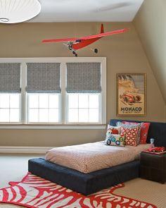 aero-themed toddler room