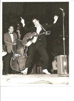 October 14, 1956. Elvis Performs Twice At The Bexar County Coliseum. San Antonio, Texas  3pm & 8pm