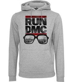 49+12eur:Hoody Run DMC x MISTER TEE Grau City Glasses Logo Sweatshirt |