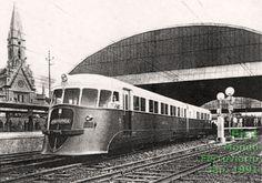 """Trem-unidade (""""litorina"""") Fiat da Estrada de Ferro Central do Brasil"""