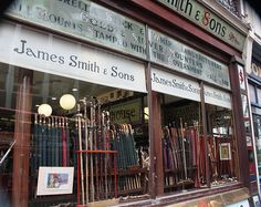 Why not consider buying a quintessential English umbrella from James Smith & Sons, London?