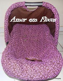 Esquema da Capa de Bebê Conforto   da Burigoto.     Há variação de tamanhos do assento dos bebes, basta medir e fazer as adaptações, mas...