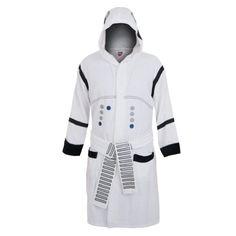 3201fad19f Star Wars Stormtrooper Hooded White Cotton Bath Robe