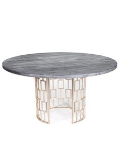 Amy Howard  Bernadette Table  60 inches in diameter by 31 inches in height  $3,995 Gilt  $6,580