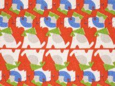 Designer Fabric - Junzo Terada - Dogs - Half Yard - Japanese Fabric. $9.50, via Etsy.