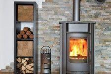 Burning wood stove