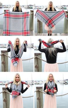 5 Stylish Ways To Wear A Blanket Scarf - Steal The Style