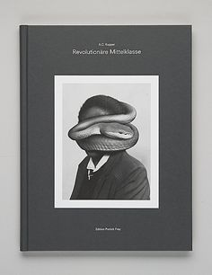 Patrick Frey Edition - Enigmatic book cover, centered and black and white weird picture on minimalistic book.