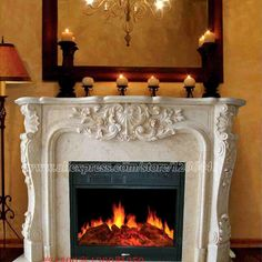 decorative fireplace set European style custom made carved natural stone mantel electric fireplace insert LED optical flame|Fireplaces| - AliExpress Electric Fireplace With Mantel, Marble Fireplace Mantel, Stone Mantel, Fireplace Set, Family Room Fireplace, Paint Fireplace, Fireplace Built Ins, Marble Fireplaces, Fireplace Remodel
