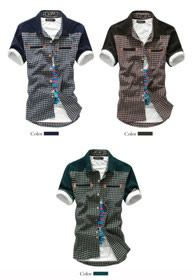 HIEND Handsome Splicing Men's Casual Shirt 22$USD