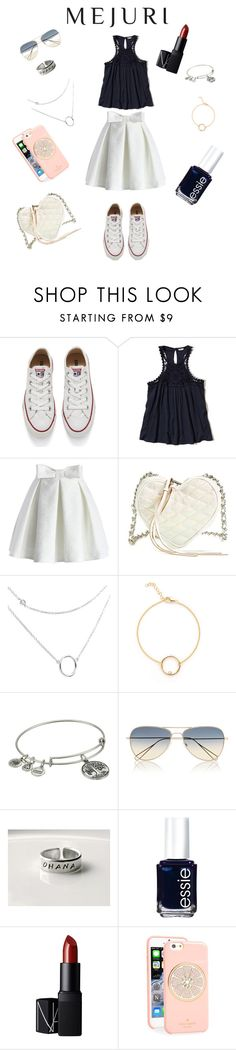 """""""Contest Entry"""" by ference-e ❤ liked on Polyvore featuring Converse, Hollister Co., Chicwish, Rebecca Minkoff, Alex and Ani, Isabel Marant, Essie, NARS Cosmetics, Kate Spade and contestentry"""