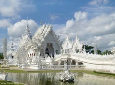 The Wat Rong Khun, Chiang Rai. The Kingdom of Thailand. Recently, this temple was damaged by earthquake.