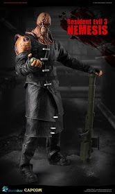 """toyhaven: Check out this upcoming Worldbox """"Resident Evil Nemesis"""" scale Nemesis creature - RUN! Resident Evil Nemesis, Horror Video Games, Custom Action Figures, Sideshow Collectibles, Gi Joe, Mythology, Avengers, Darth Vader, Creatures"""
