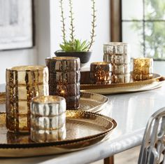 Feathered Cottage Brass Wire Wrapped Votive Holders