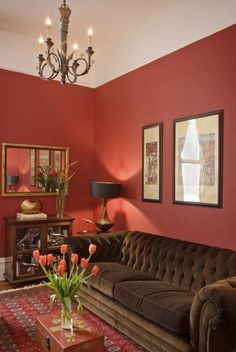 Living Room Painting Ideas Red Walls Tulips