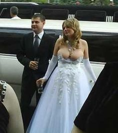 wedding dress malfunction