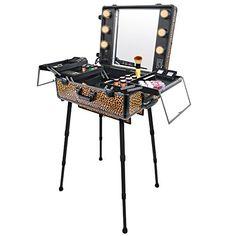 SHANY Studio To Go Makeup Case with Light Pro Makeup Station, Cheetah on The Loose SHANY Cosmetics http://www.amazon.com/dp/B00JGN2UGO/ref=cm_sw_r_pi_dp_nPExub0PHFT03