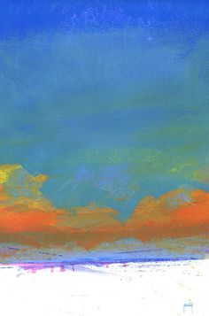 Sky three-solace   Acrylic on paper/9 x 13 inches/2014   Paul Bailey   Flickr