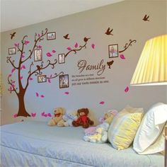 This photo frame tree Wall decal will make your environment uniquely yours. Each decal is made with 100% interior safe removable vinyl that looks painted right on the walls. made of high quality, self