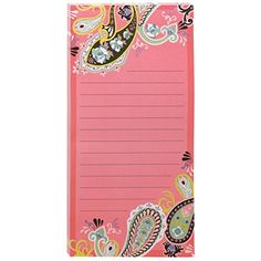Post-it® Notes, Super Sticky Pad, 4 x 8 Inch, Lined, Greek Key Designer, Magnet on back, 75 Sheets (7366-POP-GK)