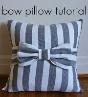 Bow Pillow Tutorial - If I ever have a little girl