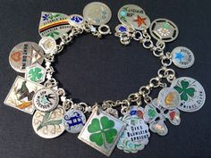 Vintage Charm Bracelet Collection - German & Austrian Lucky Silver & Enamel Charm Bracelet