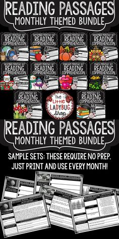 You will Love this year long Bundle of Reading Comprehension Passages that are prefect for Third Grade, Fourth and Fifth Grade. It is a year of Reading Practice Perfect for: Warm-up, Bell Work, Homework, or quick assessments. Students can use independently in literacy groups, guided reading groups! These reading activities check their skills without the boring bubbling in, this allows me to check their knowledge and show their understanding in each skill!