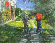 Rising Road de Gustave Caillebotte