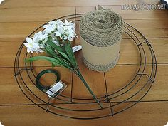 How to Make a Burlap Wreath...wish I had seen this before I made mine...would have been easier.