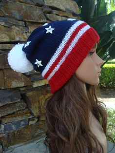 20c3555a49f Striped Slouchy Size Teen Adult with a 21 23 inch head