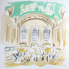 Small sketch of Grand Central interior for a larger piece to come