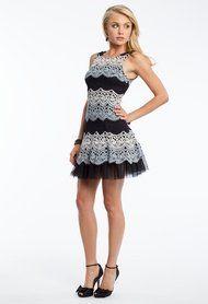 Tri-Color Lace Dress