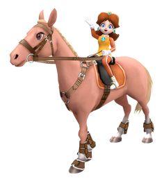 Daisy invites you for some horsing ! #wearedaisy #princessdaisy #nintendo #supermario #horsing