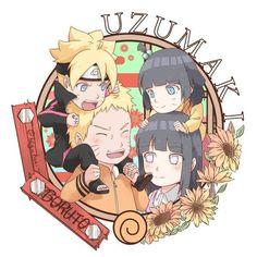 The Uzumaki Family,Boruto, Naruto, Hinata, Himawari Naruhina, Anime Naruto, Naruto Shippuden, Anime Chibi, Hinata Hyuga, Himawari Boruto, Naruto Und Hinata, Naruto Gaiden, Naruto Fan Art