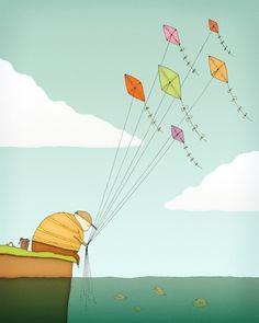 kite illustration - Google Search