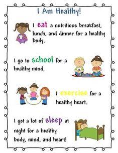 School Nurse Posters Free | Am Healthy Kids Poster for School Nurse and Health Teacher