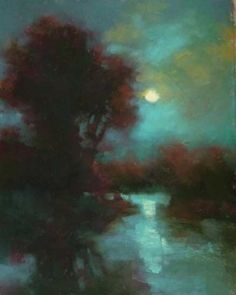 Rising Moon by Teresa Saia Not sure if this is watercolor?