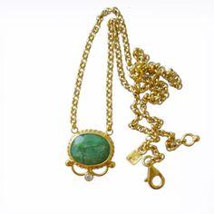 Handmade Roman Style Emerald Necklace