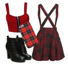 """Plaid outfit"" by anna5175 on Polyvore"