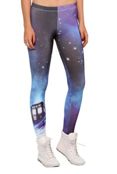 Travel With The TARDIS Through Space On These Leggings